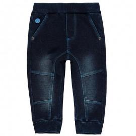 Spodnie dresowe bawełniane dla chłopca Boboli 398033-DARKBLUE granat