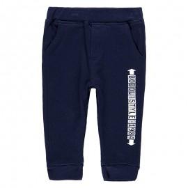 Bawełniane spodnie dresowe dla chłopca Boboli 398044-2440 granat