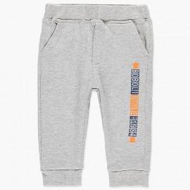 Bawełniane spodnie dresowe dla chłopca Boboli 398044-8034 szary