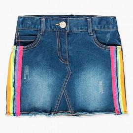 Dżinsowa elastyczna spódnica dla dziewczynki Boboli 408013-BLUE-S niebieski