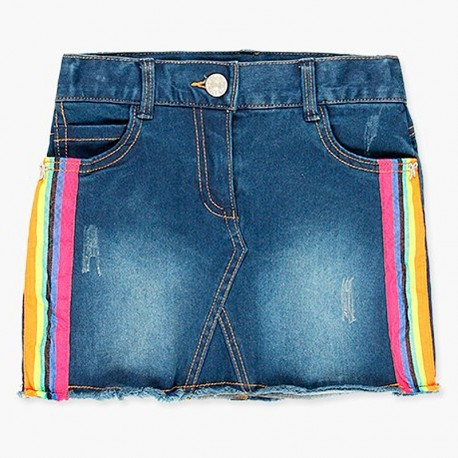 Dżinsowa elastyczna spódnica dla dziewczynki Boboli 408013-BLUE-M niebieski