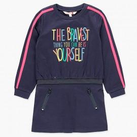 Sukienka bawełniana sportowa dla dziewczynki Boboli 408080-2440-M granat