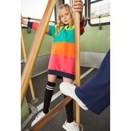 Bawełniana sukienka dla dziewczynki Boboli 408103-2440-M kolorowa