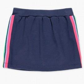 Bawełniana sportowa spódnica dla dziewczynki Boboli 408158-2440-M granat