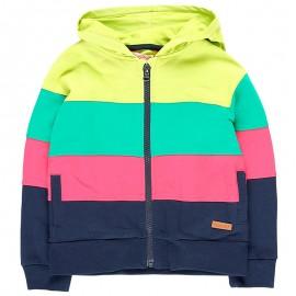 Bawełniana bluza z kapturem dla dziewczynki Boboli 408215-4467-M kolorowa