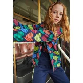 Bawełniana bluza dla dziewczynki Boboli 408226-9135-M kolorowa