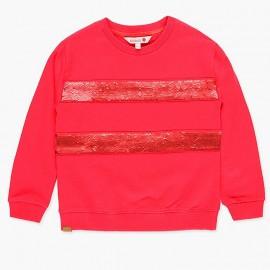 Bawełniana bluza z cekinami dla dziewczynki Boboli 418148-3548-S czerwony