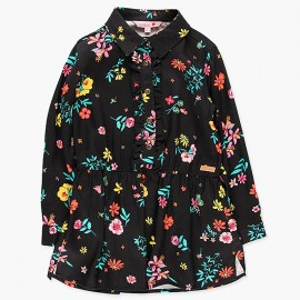 Sukienka z kołnierzykiem dla dziewczynki Boboli 428026-9139-S czarny