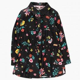 Sukienka z kołnierzykiem dla dziewczynki Boboli 428026-9139-M czarny