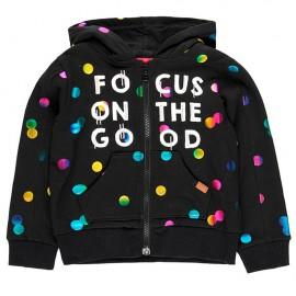 Polarowa kurtka stretch dla dziewczynki Boboli 428059-890-M czarny