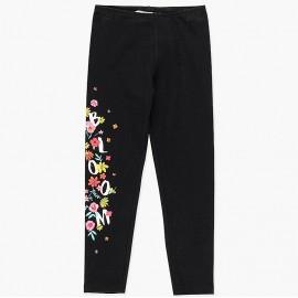 Elastyczne legginsy bawełniane dla dziewczynki Boboli 428071-890-M czarny