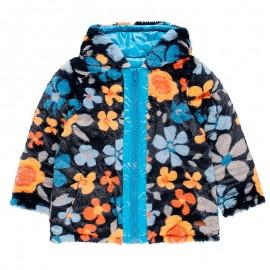 Dwustronna parka kurtka na zimę dla dziewczynki Boboli 458164-9138-M turkus