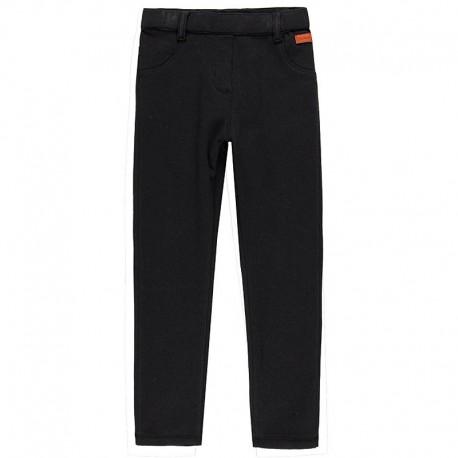 Spodnie bawełniane dla dziewczynki Boboli 468042-8076 czarny