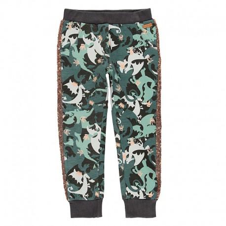 Spodnie dresowe dla dziewczynki Boboli 468064-9161-S zielony
