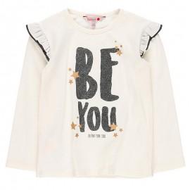 Koszulka z długim rękawem dla dziewczynki Boboli 468075-1111-M krem