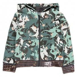 Bluza z kapturem dla dziewczynki Boboli 468176-9161-S zielony