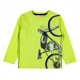 Bawełniana koszulka dla chłopca Boboli 518026-4467-M zielony