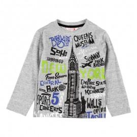 Bawełniana koszulka dla chłopca Boboli 518082-8107-M szary