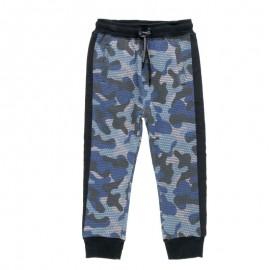 Dresowe spodnie moro dla chłopca Boboli 518127-9169-S granat
