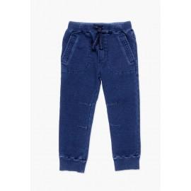 Bawełniane spodnie dresowe dla chłopca Boboli 528162-BLUE-M niebieski