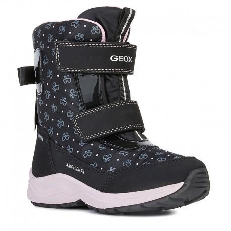Śniegowce dla dziewczynek GEOX J94ALA-0MN50-C9999 czarny
