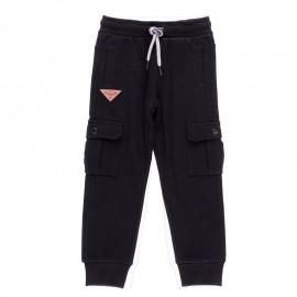 Bawełniane spodnie dresowe bojówki dla chłopca Boboli 598057-890-M czarny