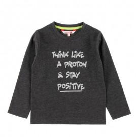 Bawełniana koszulka dla chłopca Boboli 598068-8070 grafit