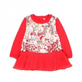 Sukienka dla dziewczynki Boboli 708184-3641 czerwony