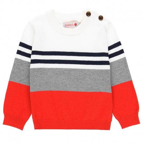 Sweter z wkładany przez głowę dla chłopca Boboli 718095-3641 czerwony