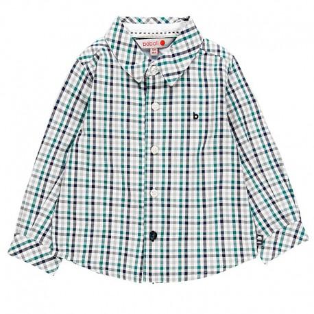 Koszula w kratę dla chłopca Boboli 718185-9143 zielony