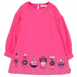 Sukienka dla dziewczynki Boboli 728603-3650-S fuksja