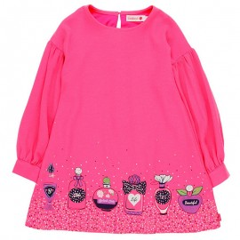Sukienka dla dziewczynki Boboli 728603-3650-M fuksja