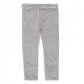 Spodnie z miękkiego sztruksu dla chłopca Boboli 738110-8105-S szary