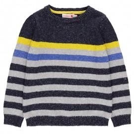 Sweter w paski wkładany przez głowę dla chłopca Boboli 738277-2440-M kolorowy