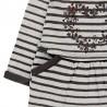 Bawełniana sukienka w paski dla dziewczynki Boboli 228079-9197 szary