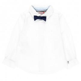Koszula elegancka z muchą z długim rękawem dla chłopca Boboli 718028-1100 biały