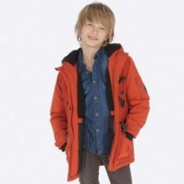 Parka kurtka zimowa z kapturem dla chłopca Mayoral 7445-25 Glina