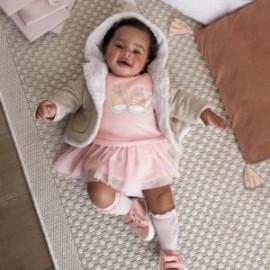 Sukienka bawełniana ciepła dla dziewczynki Mayoral 2830-10 Old pink