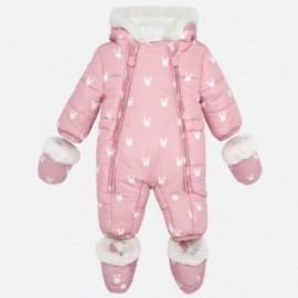 Kombinezon zimowy z rękawiczkami dla dziewczynki Mayoral 2603-14 Kwarc