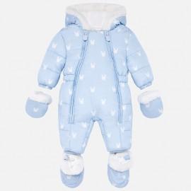 Kombinezon zimowy z rękawiczkami unisex dla dziewczynki i dla chłopca Mayoral 2603-18 Błękitny
