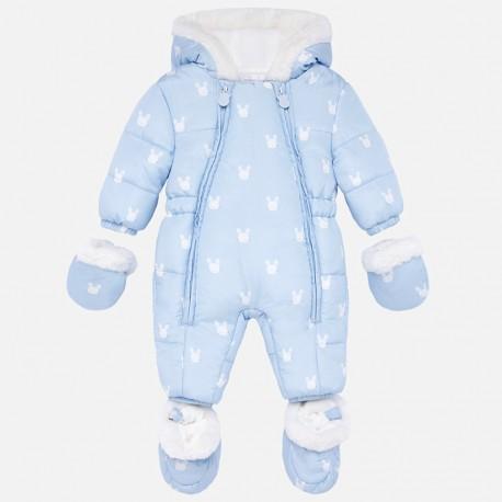 Kombinezon zimowy z rękawiczkami dla dziewczynki Mayoral 2603-18 Błękitny