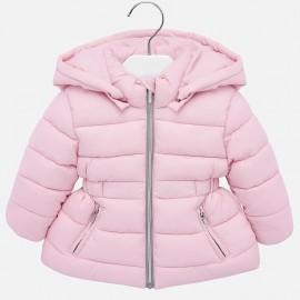 Kurtka pikowana zimowa z kapturem dla dziewczynki Mayoral 414-12 Różowy