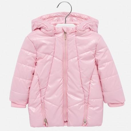 Kurtka zimowa błyszcząca długa dla dziewczynki Mayoral 2435-90 Różowy