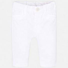 Mayoral 595-68 Spodnie klasyczne chłopięce kolor Biały