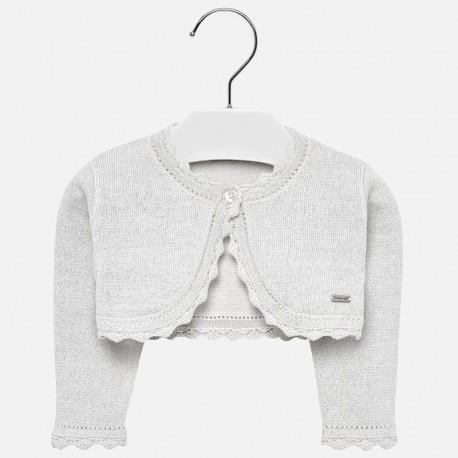 Mayoral 306-26 Sweter bolerko dziewczęcy kolor Srebrny