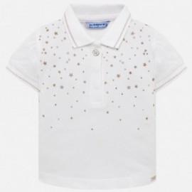 Mayoral 1108-40 Koszulka polo z krótkim rękawem dziewczęca biała
