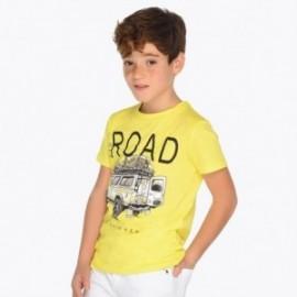Mayoral 6036-60 Koszulka k/r sportowa z nadrukiem chłopięca kolor Żółty