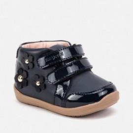 Buty w kwiaty na rzepy przejściowe dla dziewczynki Mayoral 42008-10 Granatowy