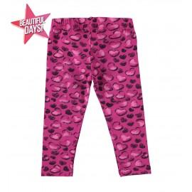 iDO Legginsy bawełniane dla dziewczynek K631-6LP6 fiolet