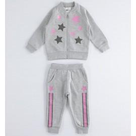iDO Dres bawełniany bluza i spodnie dziewczęcy K678-8992 szary